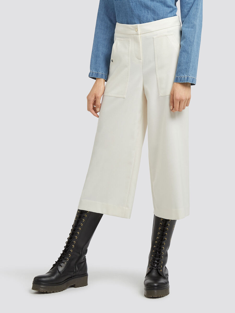 Flannel gaucho trousers