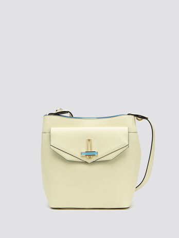 Myrtle bucket bag with geometric flap
