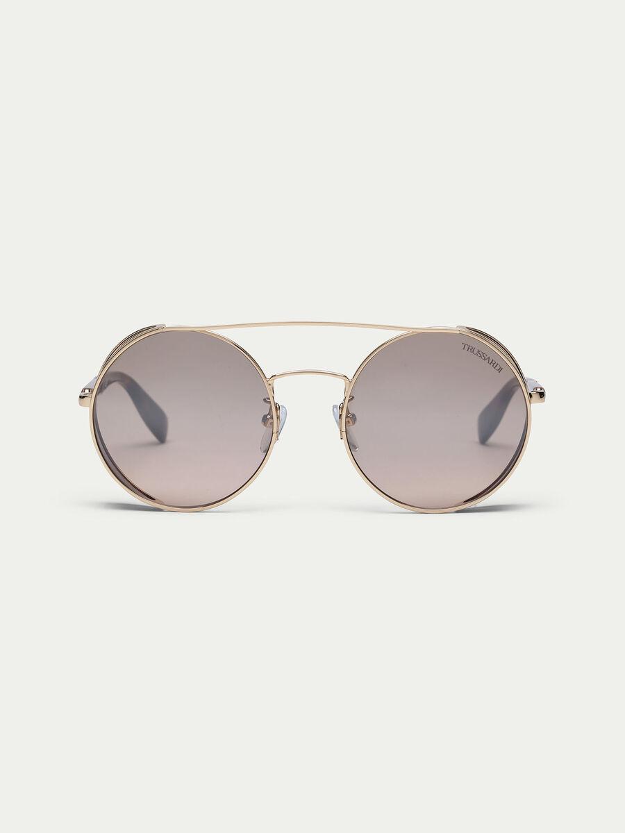 Sonnenbrille mit halbtransparenten Nasenpads