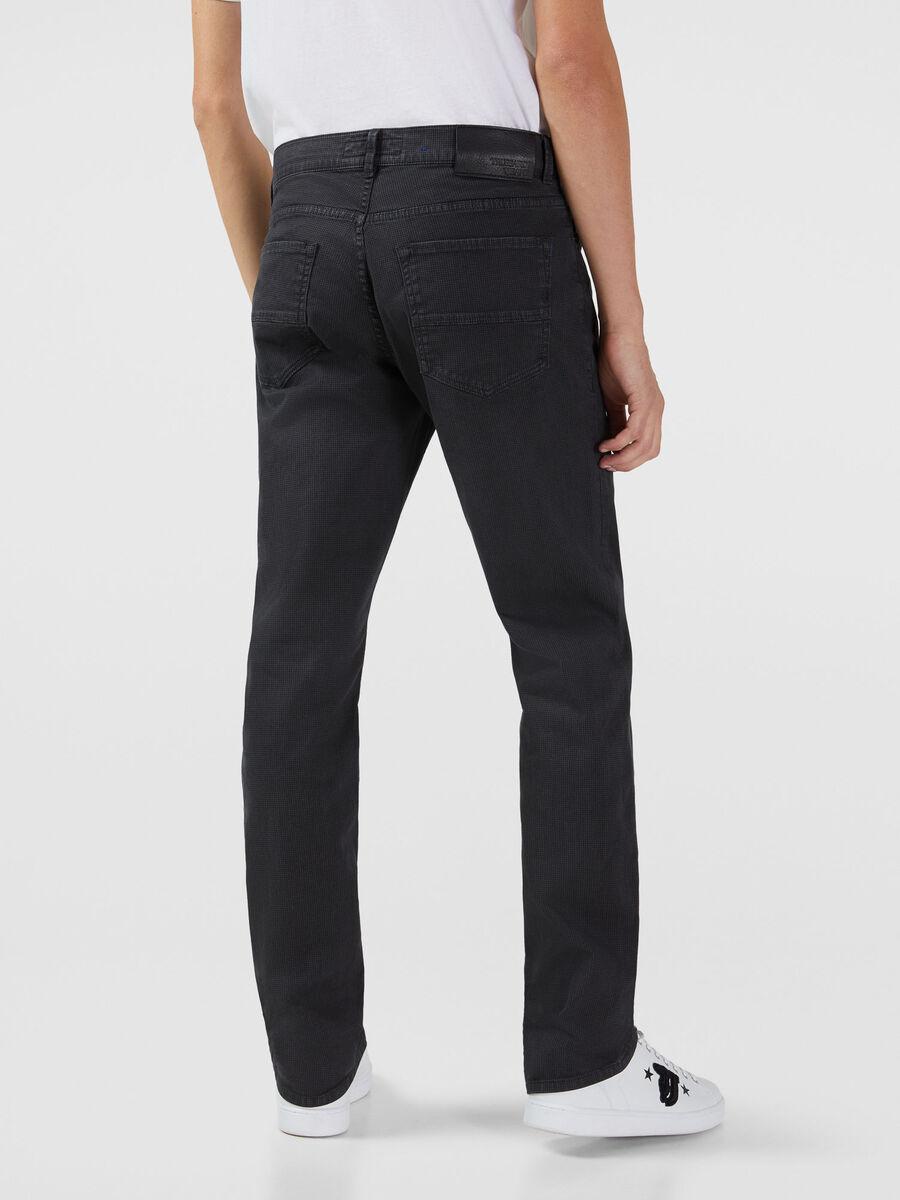 Jeans 380 Icon in gabardina pied de poule