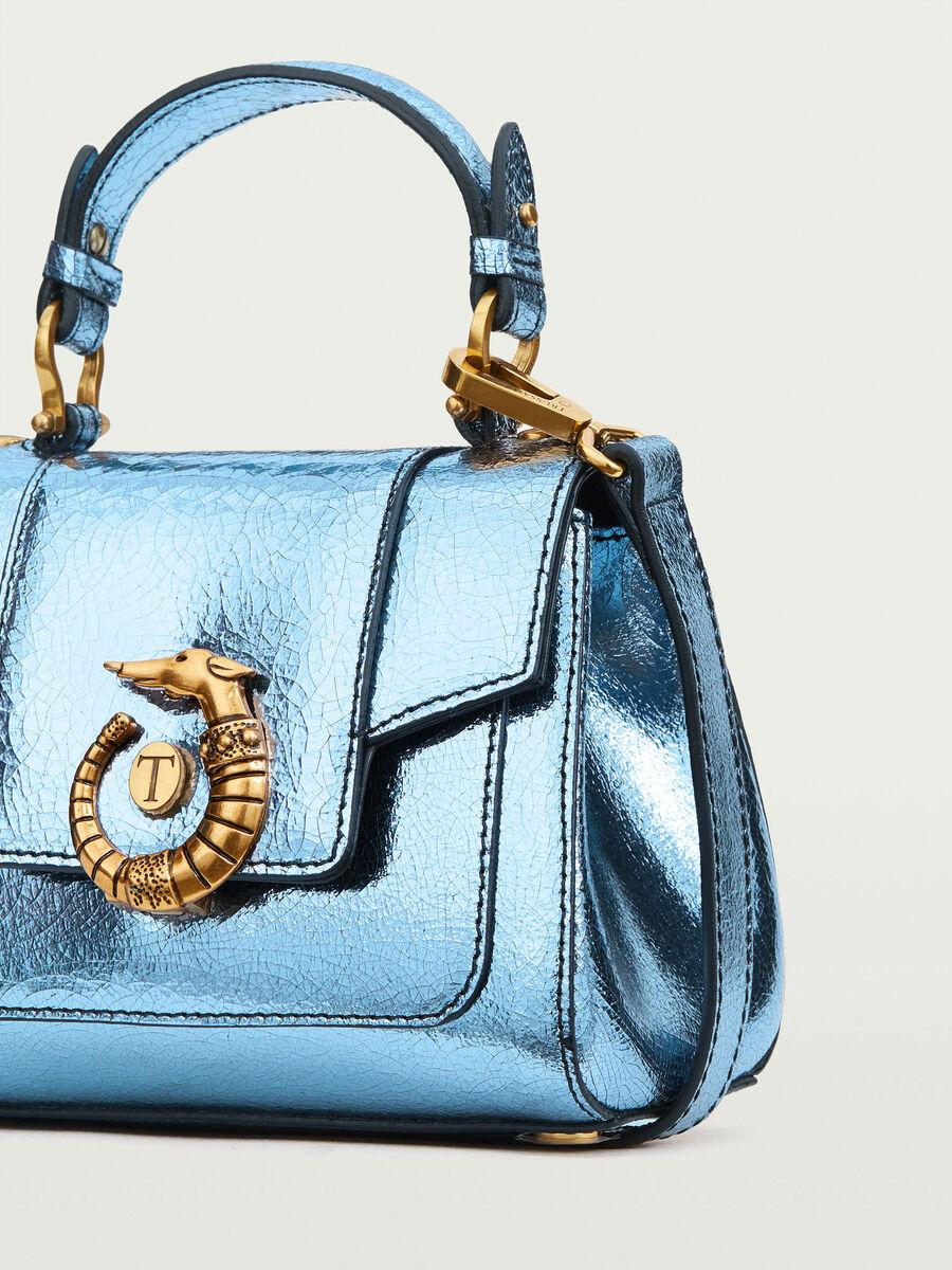 Lovy Bag mini in pelle craquele laminato