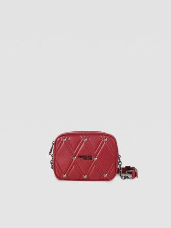 Medium T-Cube Q Cacciatora bag in quilted faux leather