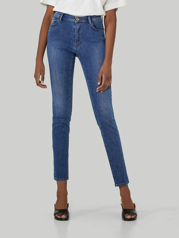 Jeans 105 skinny in denim di cotone