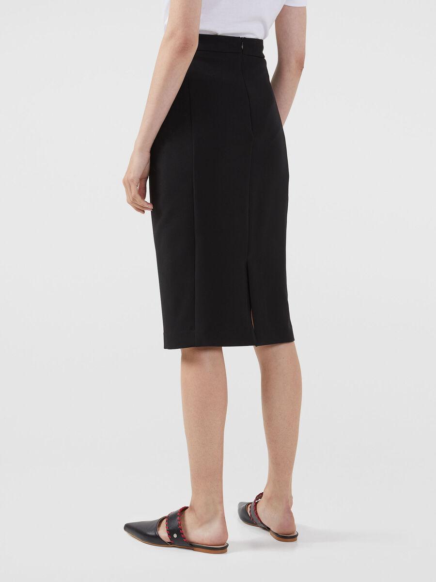 Technical cady pencil skirt