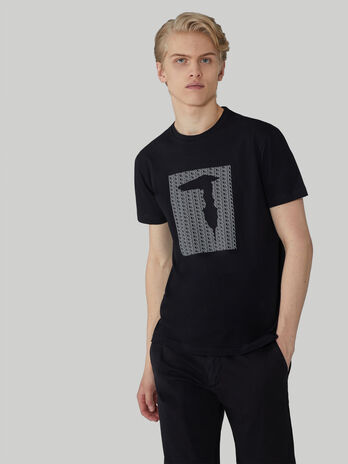 Regular-fit stretch cotton T-shirt