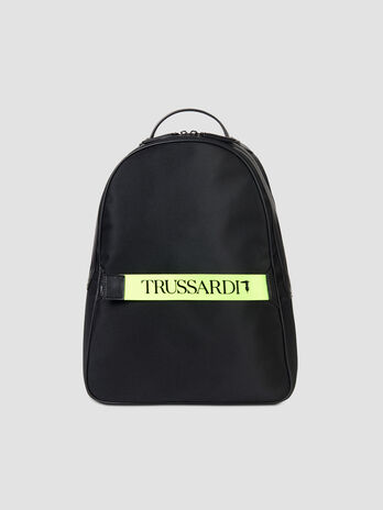 Small Ortisei backpack in nylon and faux leather