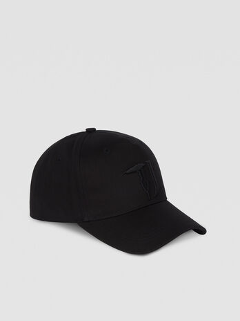 Cotton baseball cap with monogram detail
