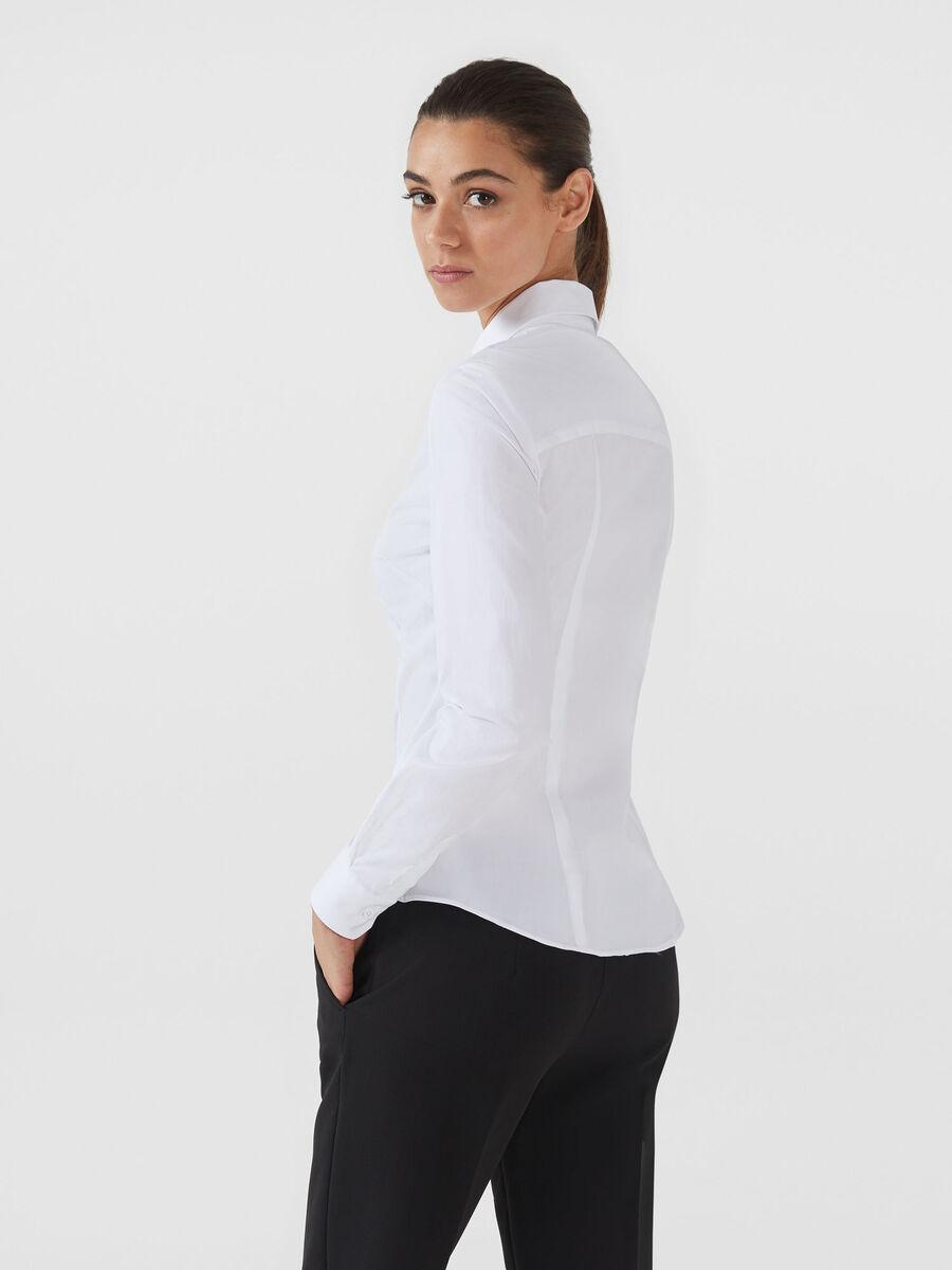 Bluse aus Baumwollpopeline im Slim Fit