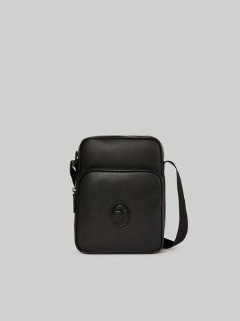 Small Urban reporter bag in faux saffiano leather