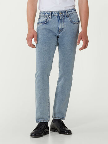 Regular fit Pale denim jeans