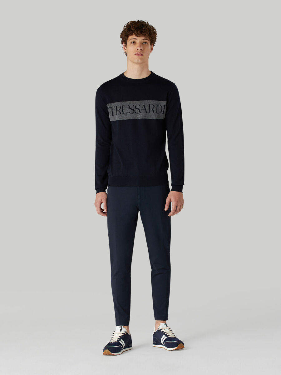 Pantalon coupe skinny en jersey maille Milano
