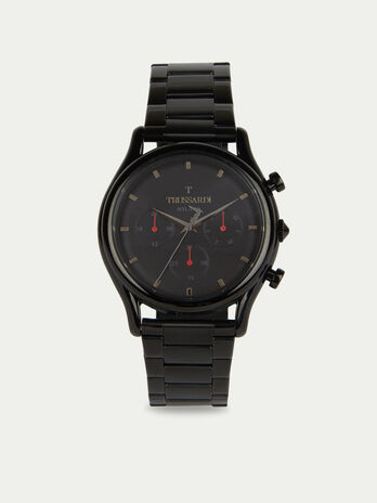 T-Light Chronograph watch with steel strap
