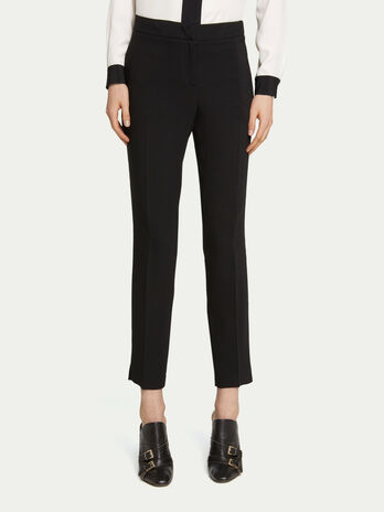 Solid colour viscose cady cigarette trousers