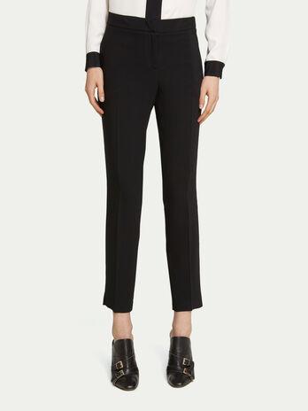 Pantalones pitillo de cady de viscosa en color liso