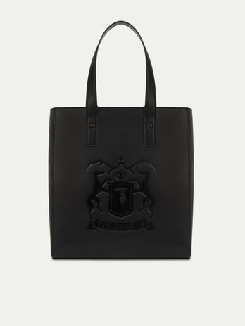 Unisex leather shopping bag