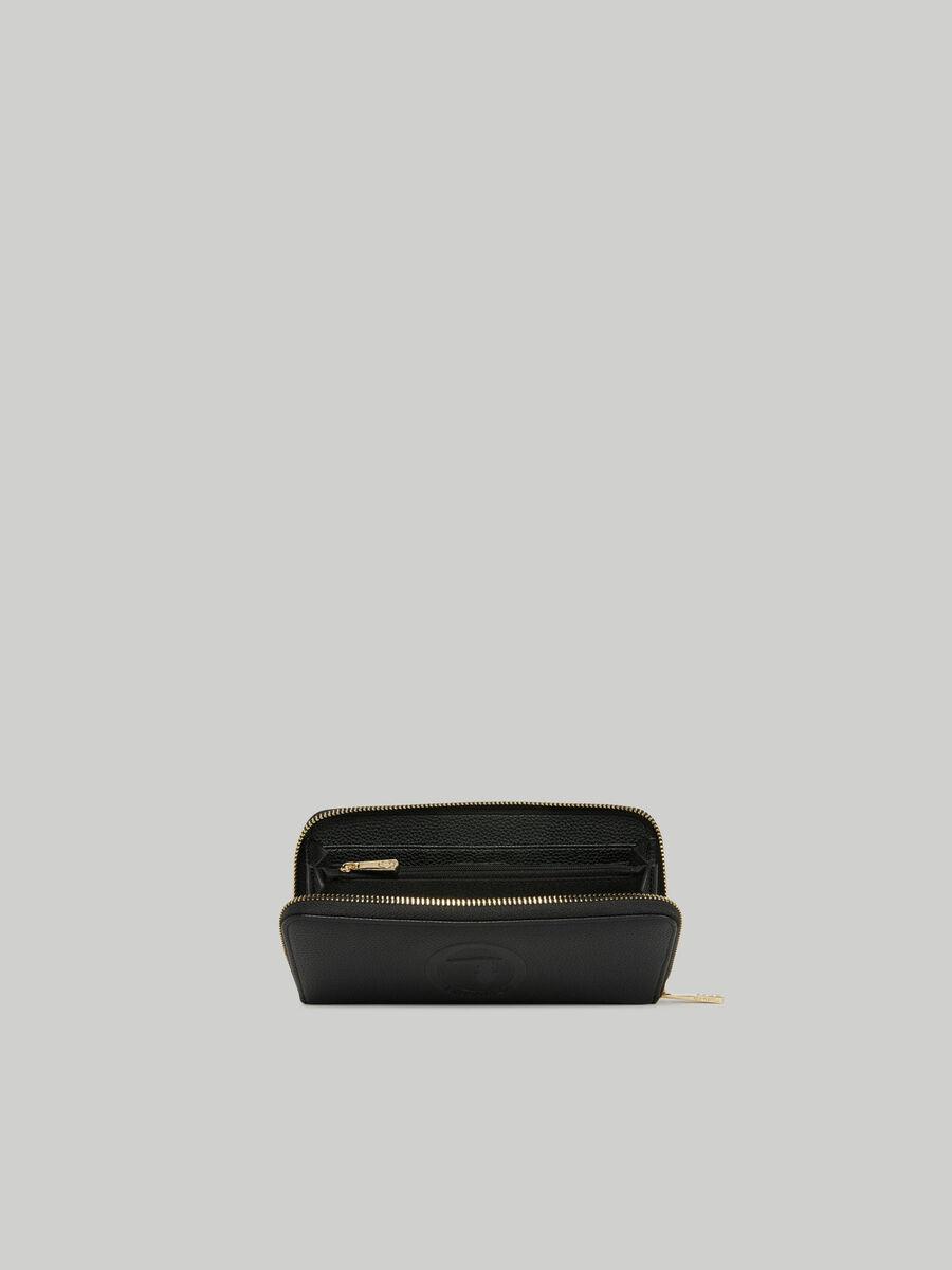 Iris purse with deerskin print