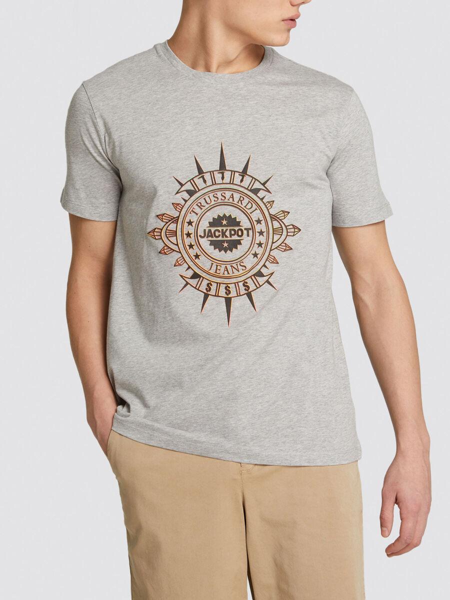 Regular fit Jackpot T-shirt monochrome cotton jersey