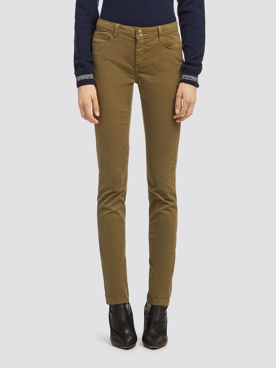 Garment dyed regular fit jeans