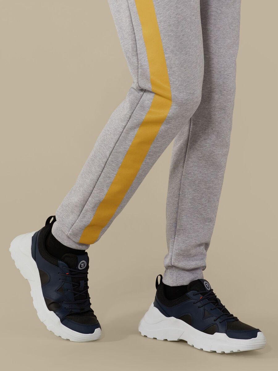 Fleece jogging bottoms with print