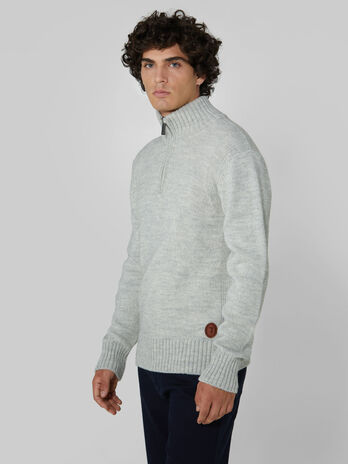Regular fit wool and alpaca camioner pullover
