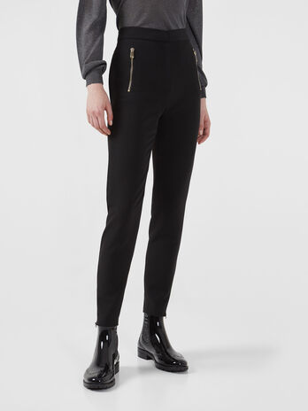 Technical cady trousers with zip