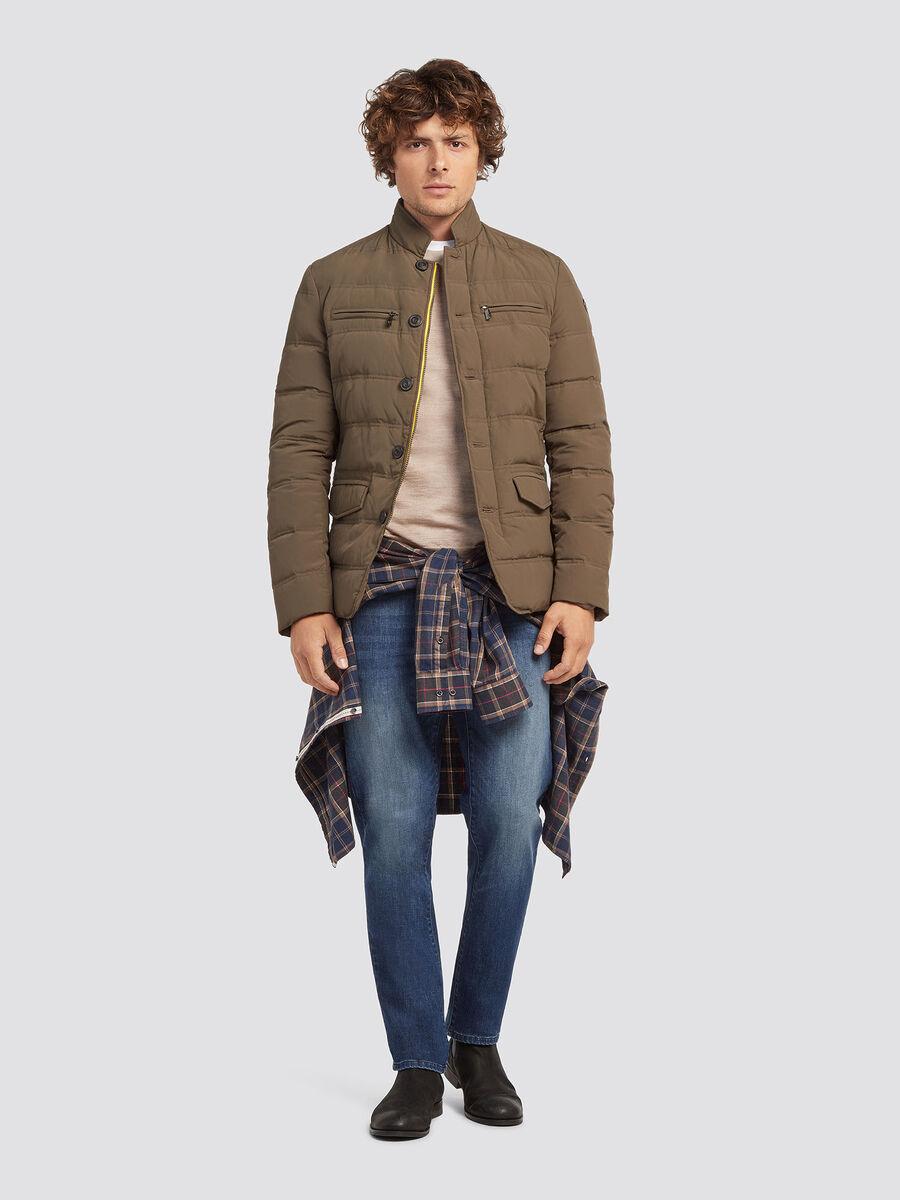 Regular fit crinkle nylon jacket