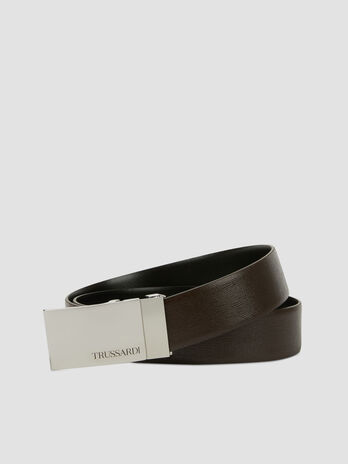Ceinture Business Affair en cuir saffiano