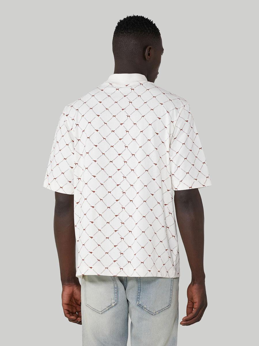 Oversized cotton T-shirt with Levriero print