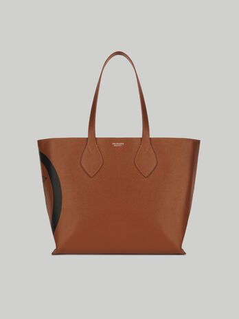 Shopper medium in pelle saffiano