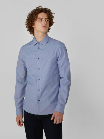 Slim fit gingham cotton shirt