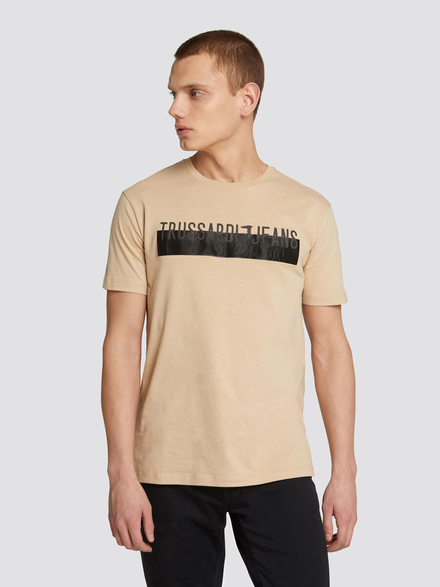 b4b469f639 Regular fit jersey T shirt with contrasting band