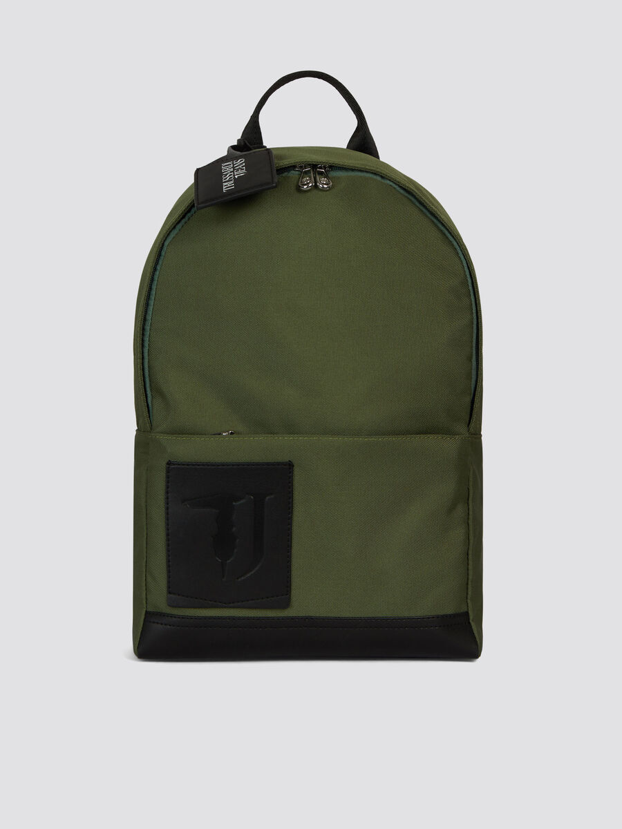 Midi Ticinese backpack in faux leather and Cordura