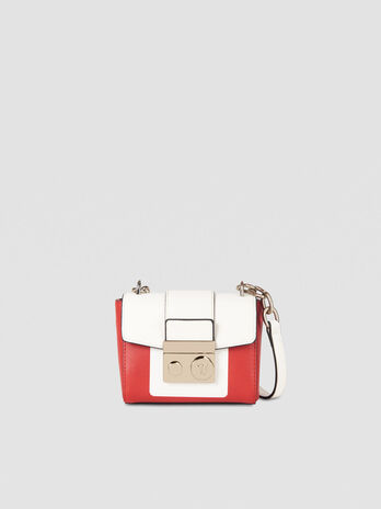 Small With Love shoulder bag in two tone faux leather