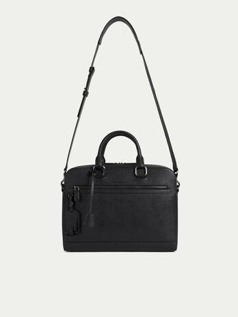 Medium briefcase in saffiano print leather