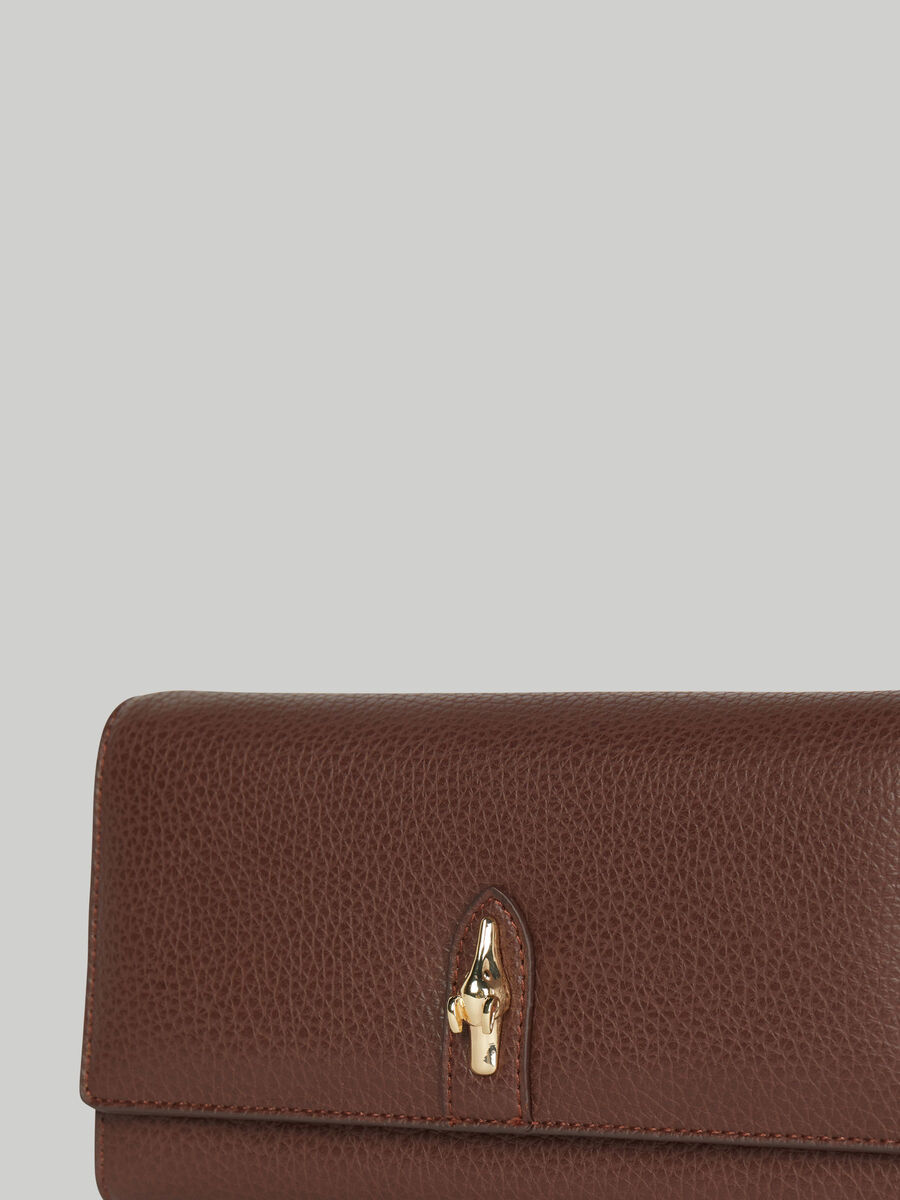 Large Emma continental purse with deerskin print