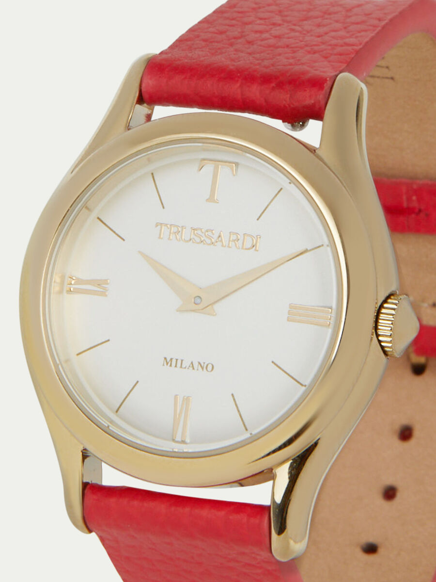 T-Light watch with leather strap
