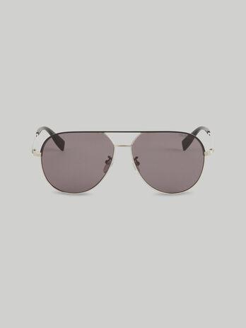 Aviator sunglasses in silver titanium
