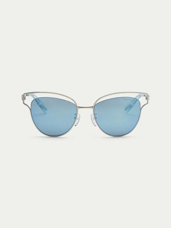 Flieger Sonnenbrille mit gelochten Rahmenendstuecken