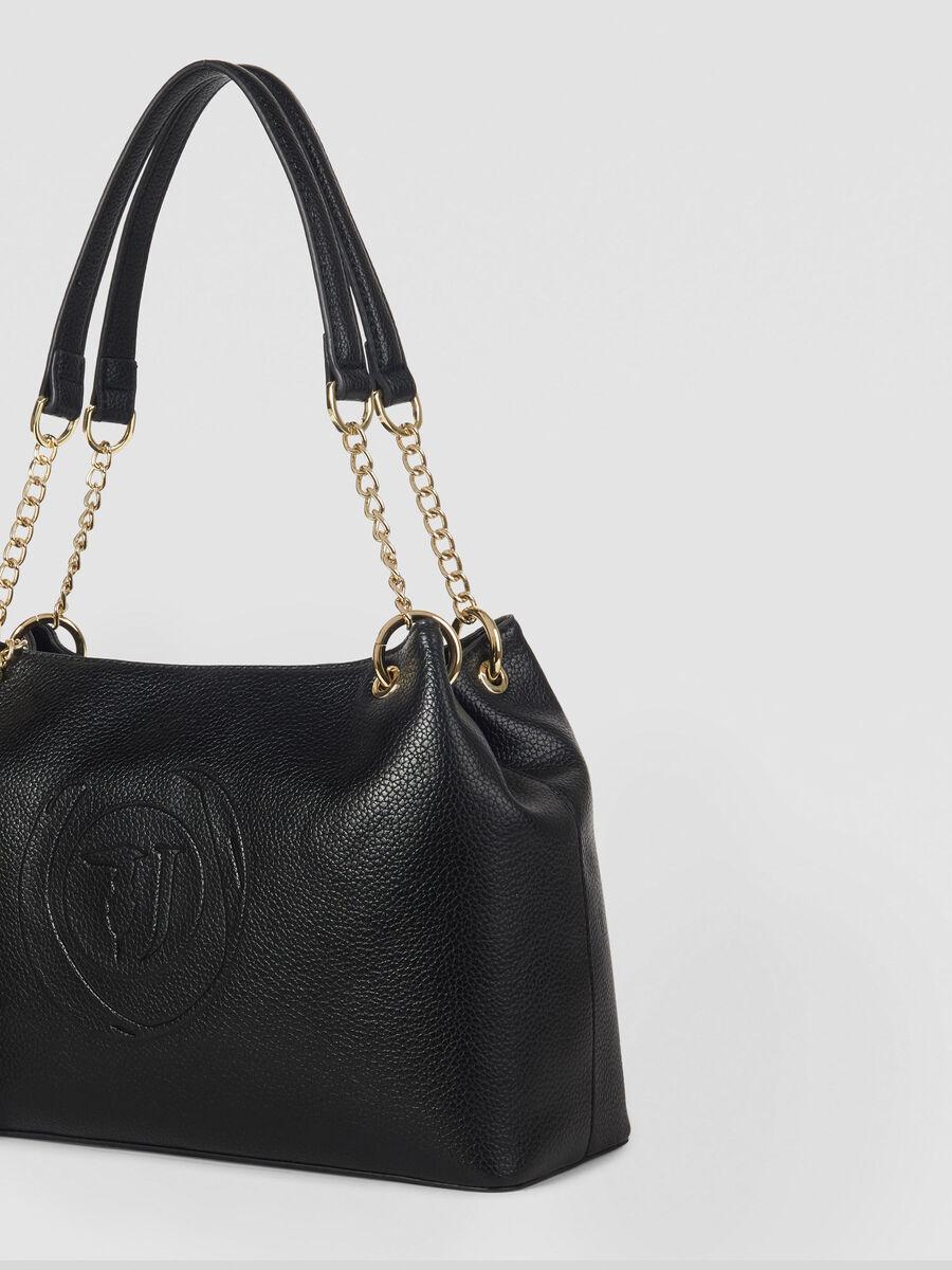 Hobo Bag Faith Medium aus Kunstleder mit Logo