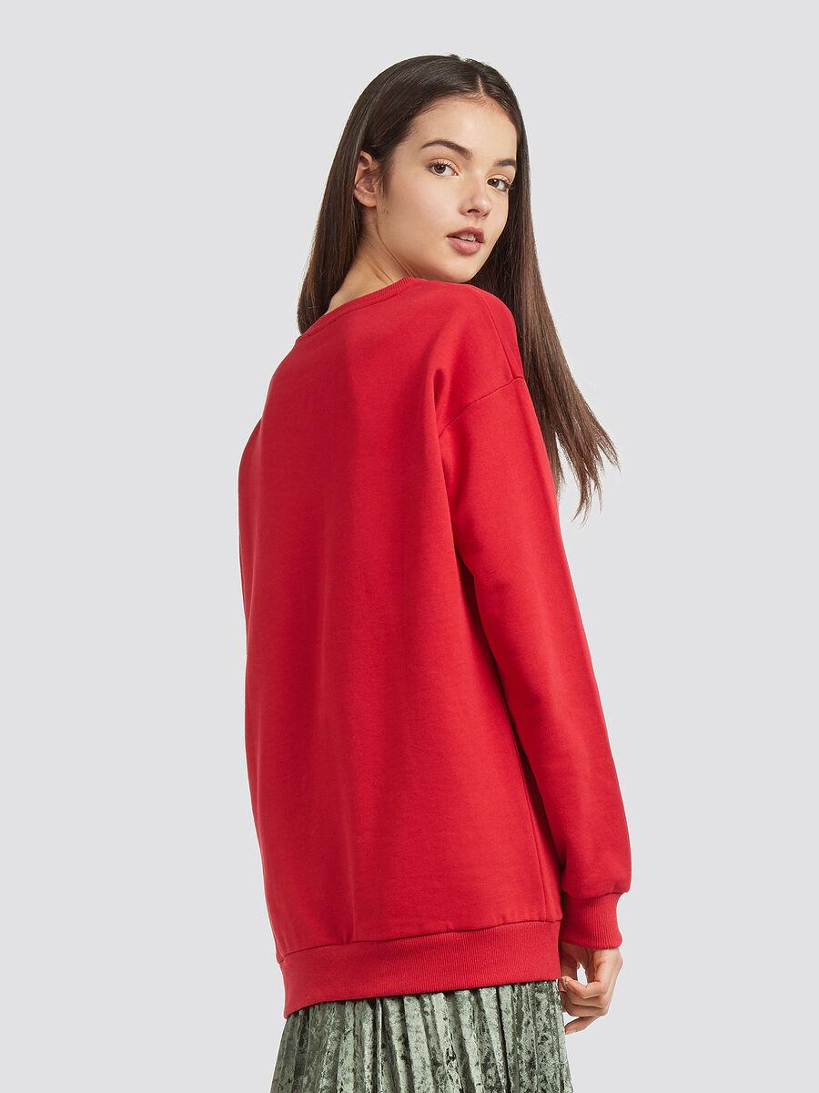 Cotton sweatshirt with logo print