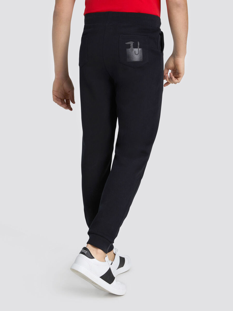 Cotton jogging bottoms with branding on back