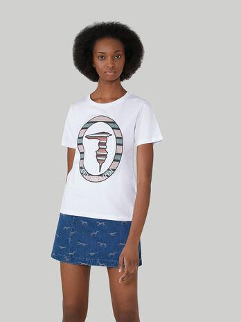 Regular-fit cotton T-shirt with monogram
