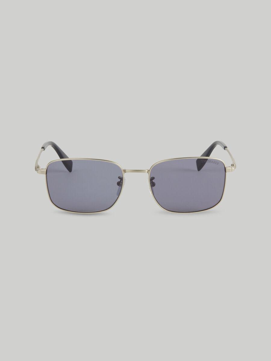 Rechteckige Sonnenbrille aus Titan