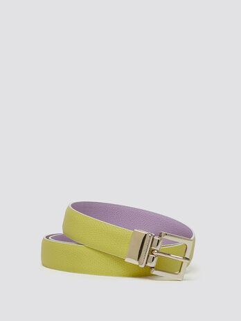 Reptile look Crespo leather belt