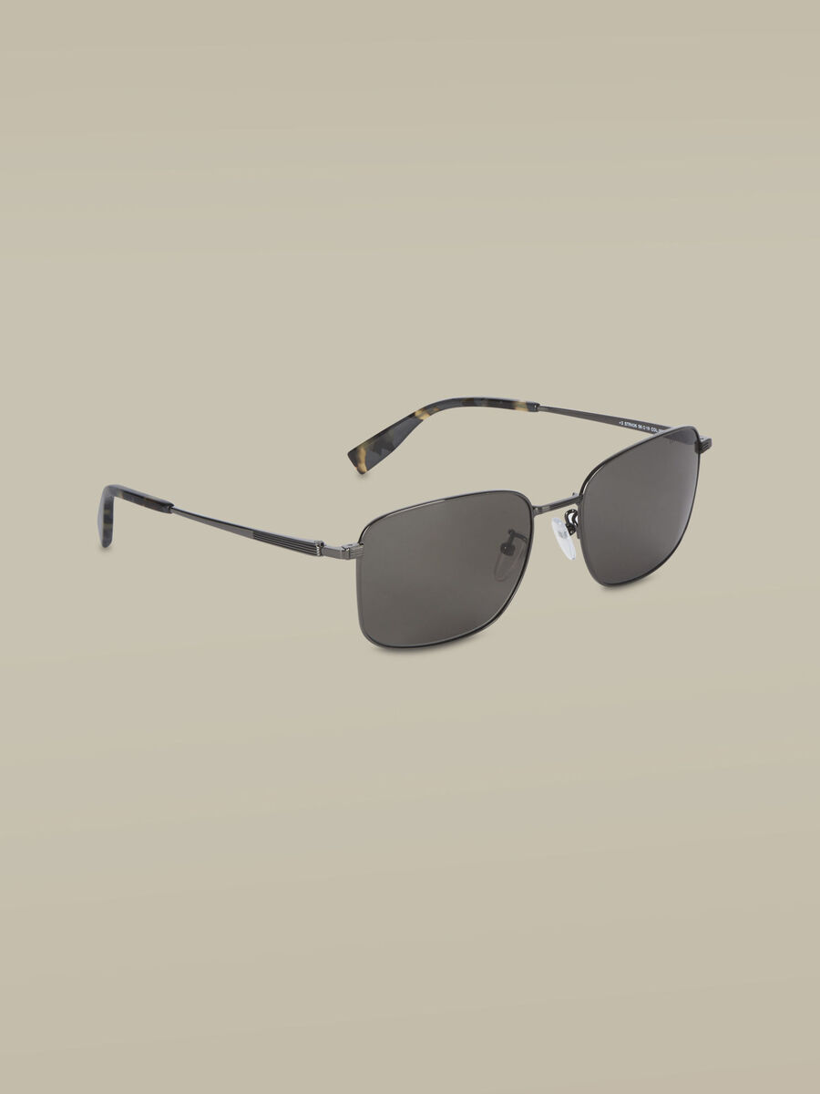 Rectangular metal sunglasses