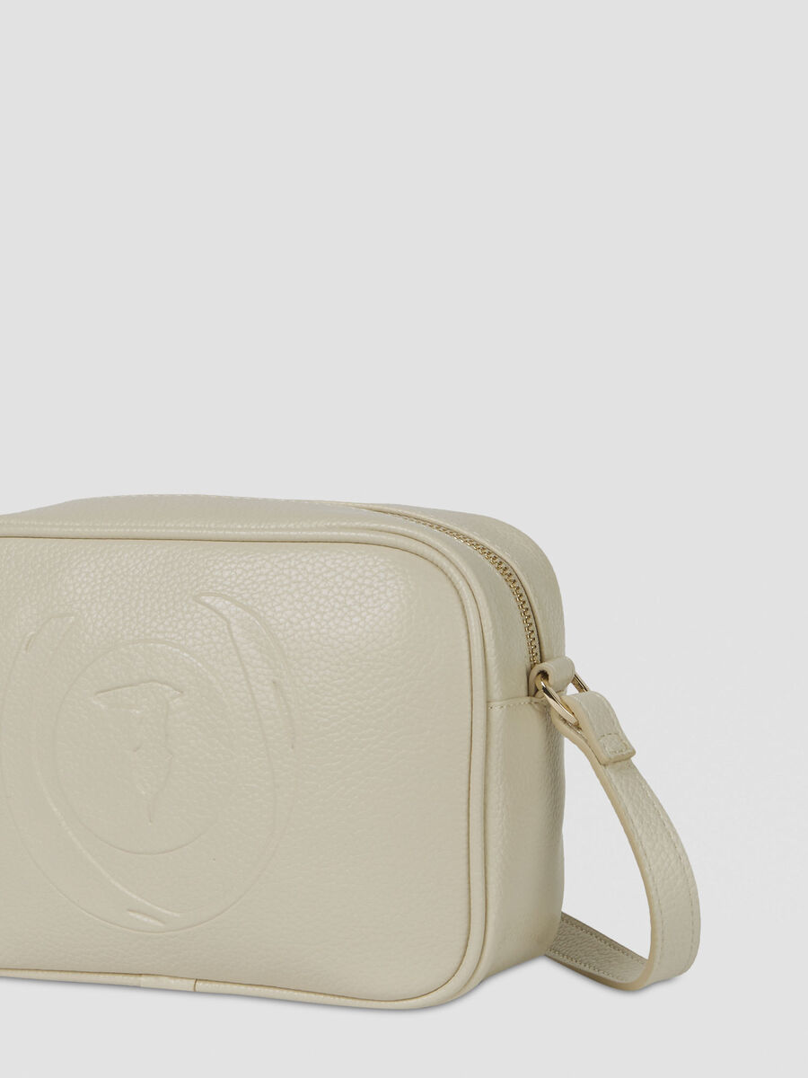 Faith camera case in faux leather with logo