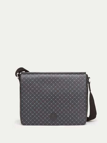 Crespo leather Monogram satchel