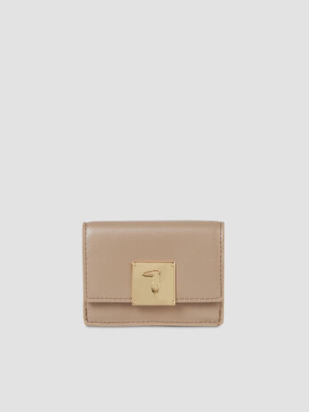 Small faux leather Lione trifold purse