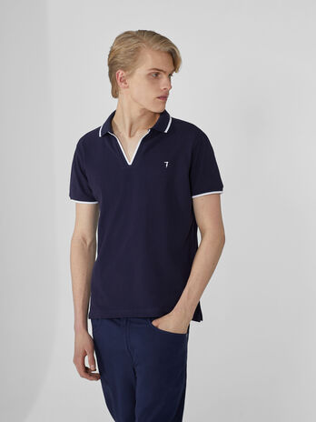 Polo regular fit in piquet di cotone