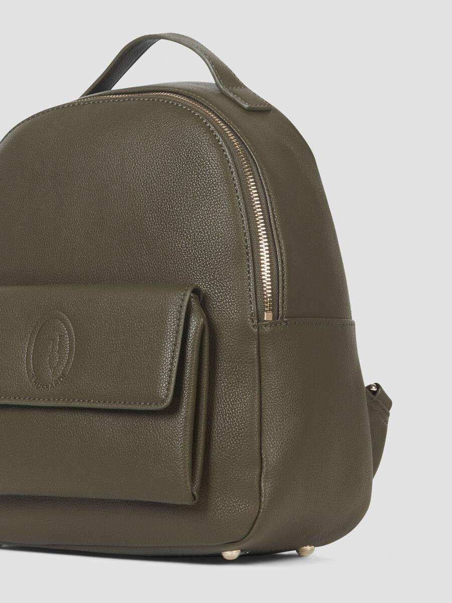 Medium faux leather Belgrado backpack